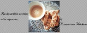 Koulourakia cookies with espresso